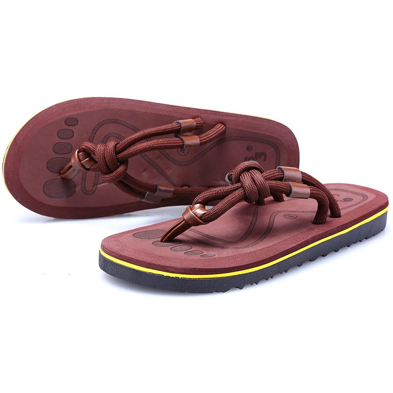 Hot Sale-New Arrival Summer Men Flip Flops High Quality Beach Sandals Non-slip Male Slippers Zapatos Hombre Casual Shoes Men buty meskie