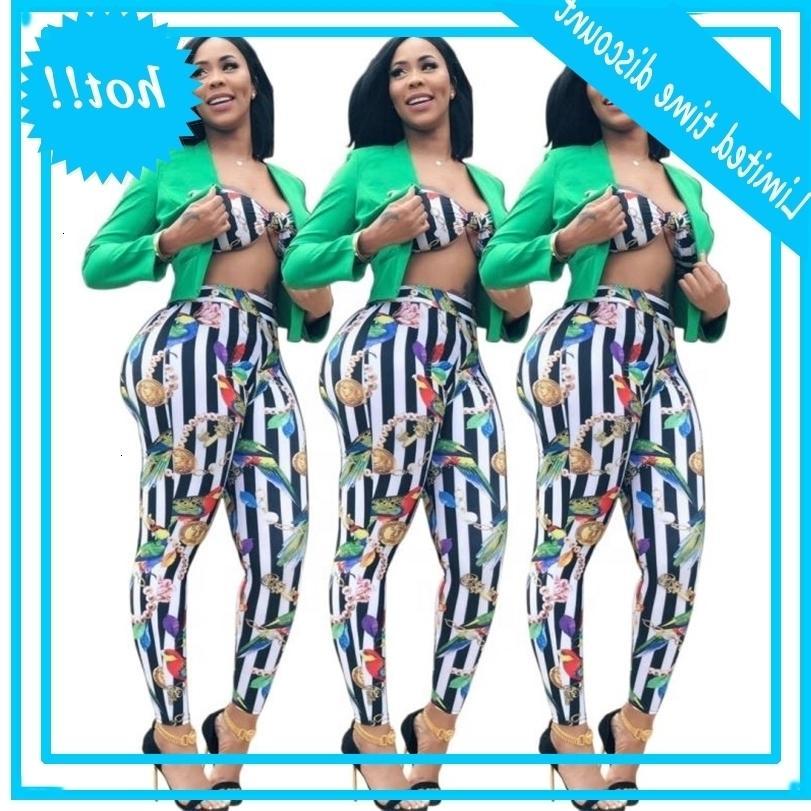 factory wholesale striped crop top and pants set 2piece
