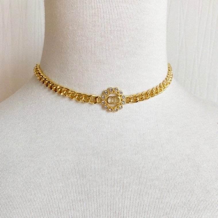 Explosion Klassische Rose CD Kette Navy Dicke Marke Designer Schmuck Brief Gold Luxus Choker Designer Schmuck Frauen Designer Halskette 6 i1fm #