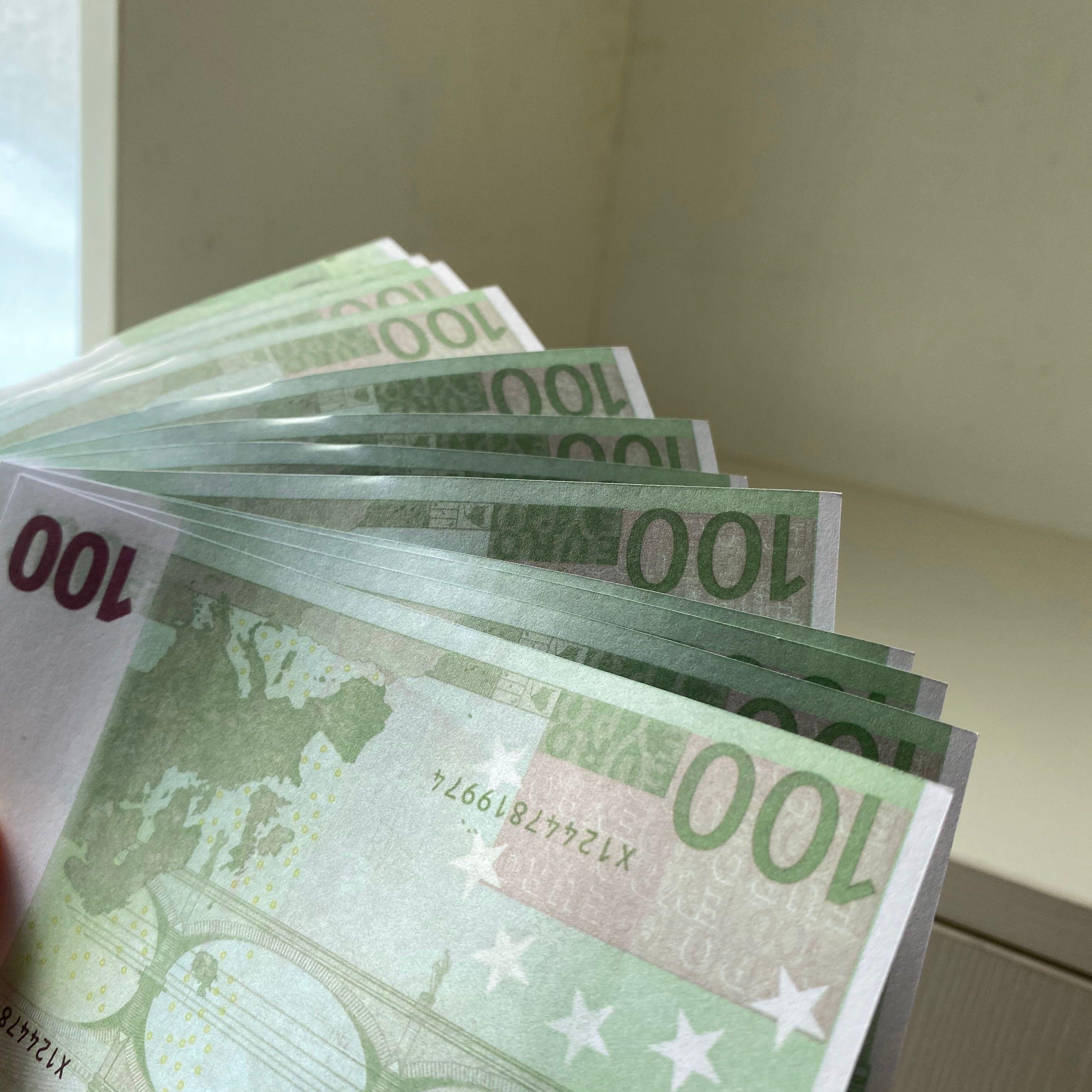 THIFF TICKET NIÑOS EURO PROP 100 TOY MONEY FALSETE REGALO FAUX Billet Papel Props Euro New Magic LE100-15 CJJRV