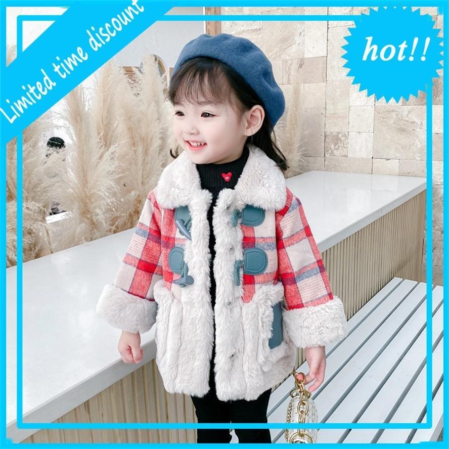 Куртки к клетку для зимы Bont детей Верхняя девочек Клаксон Жилет Jas Детская одежда Случайная Длинная Куртка Девочек