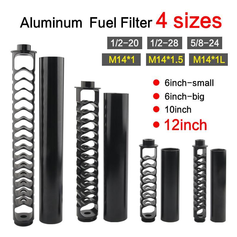 جديد 1/2/220 1/228 5/8-24 6 بوصة-صغيرة 6 بوصة كبيرة 10 بوصة واحدة الأساسية الألومنيوم فلتر الوقود المذيبات مصيدة ل NAPA 4003 WIX 24003