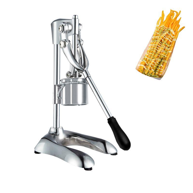 Manuel Longue Pomme à pommes de terre En acier inoxydable En acier inoxydable Machine de découpe Machine Machine Machine De Dough Squeeze Processeur alimentaire