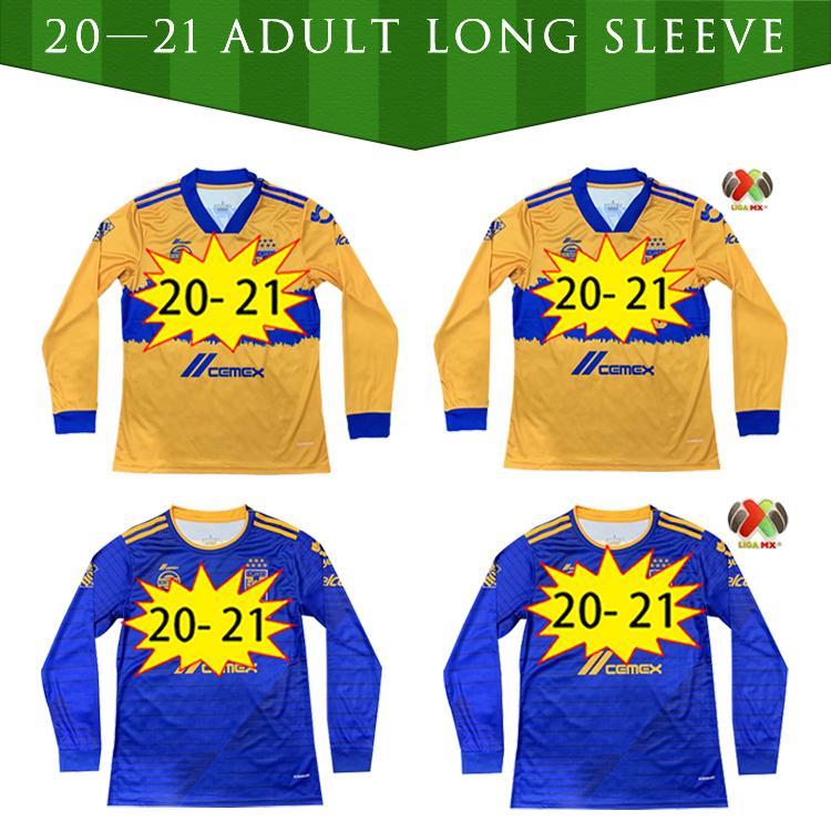 2020 2021 Uanl Tigres Gignac Jerseys Soccer 20 21 Vargas Camiseta Maillot Casa Away Pizarro Mexico Manica lunga Camicie da calcio a maniche lunghe