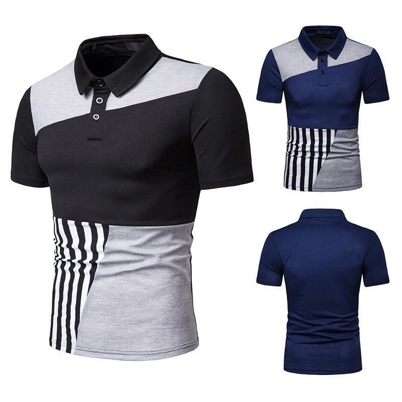 Men's T-Shirts 2021 Summer Short Sleeve Men T Shirt Mens Shirts Fashion Black Blue S-XXL