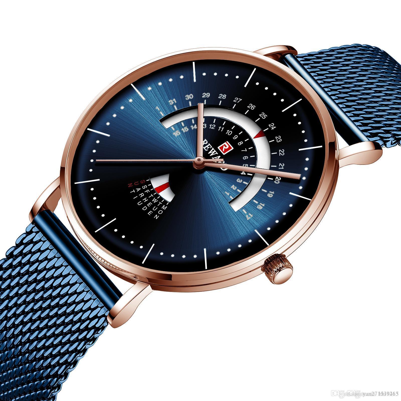 Спортивные часы дизайнерские часы мужские часы многофункциональные спортивные кварцевые из нержавеющей стали из нержавеющей стали ремень подарок подарки RD62007M