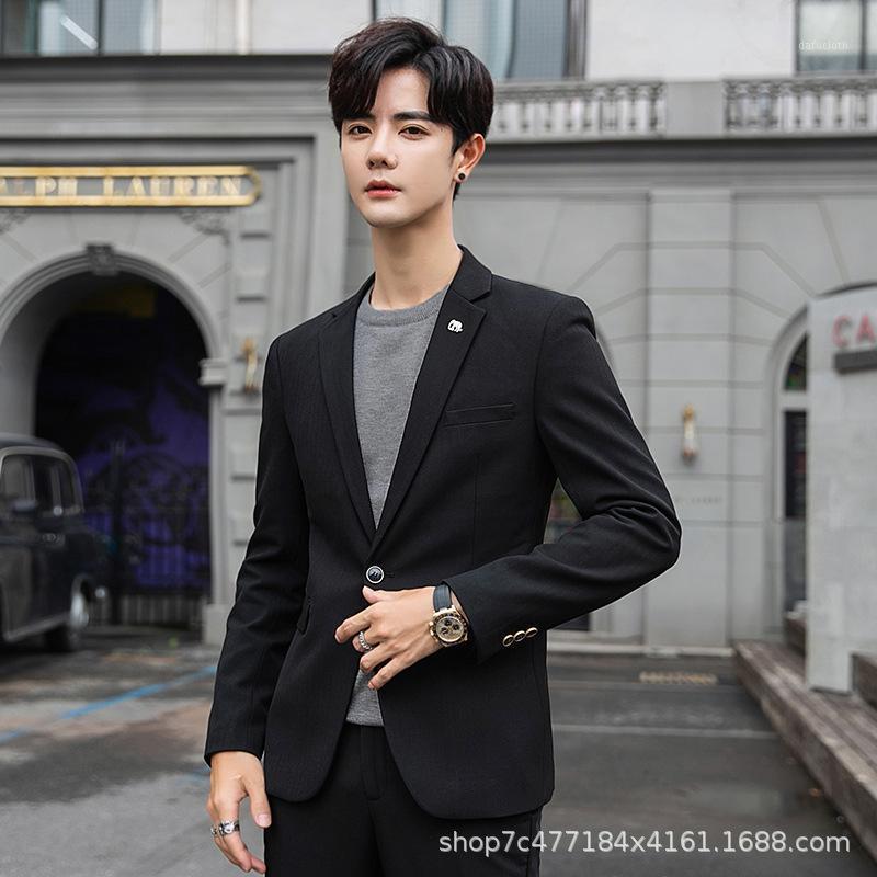 Trajes de hombre Blazers Blazers Stage Jackets Casual Traje coreano Tendencia guapo profesional Traje Formal Groom Top 2019 BB50XZ1