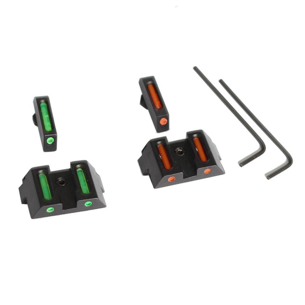 Aerona delantera y trasera de la fibra óptica de la glock apuntando el centrado en la vista Accesorios tácticos