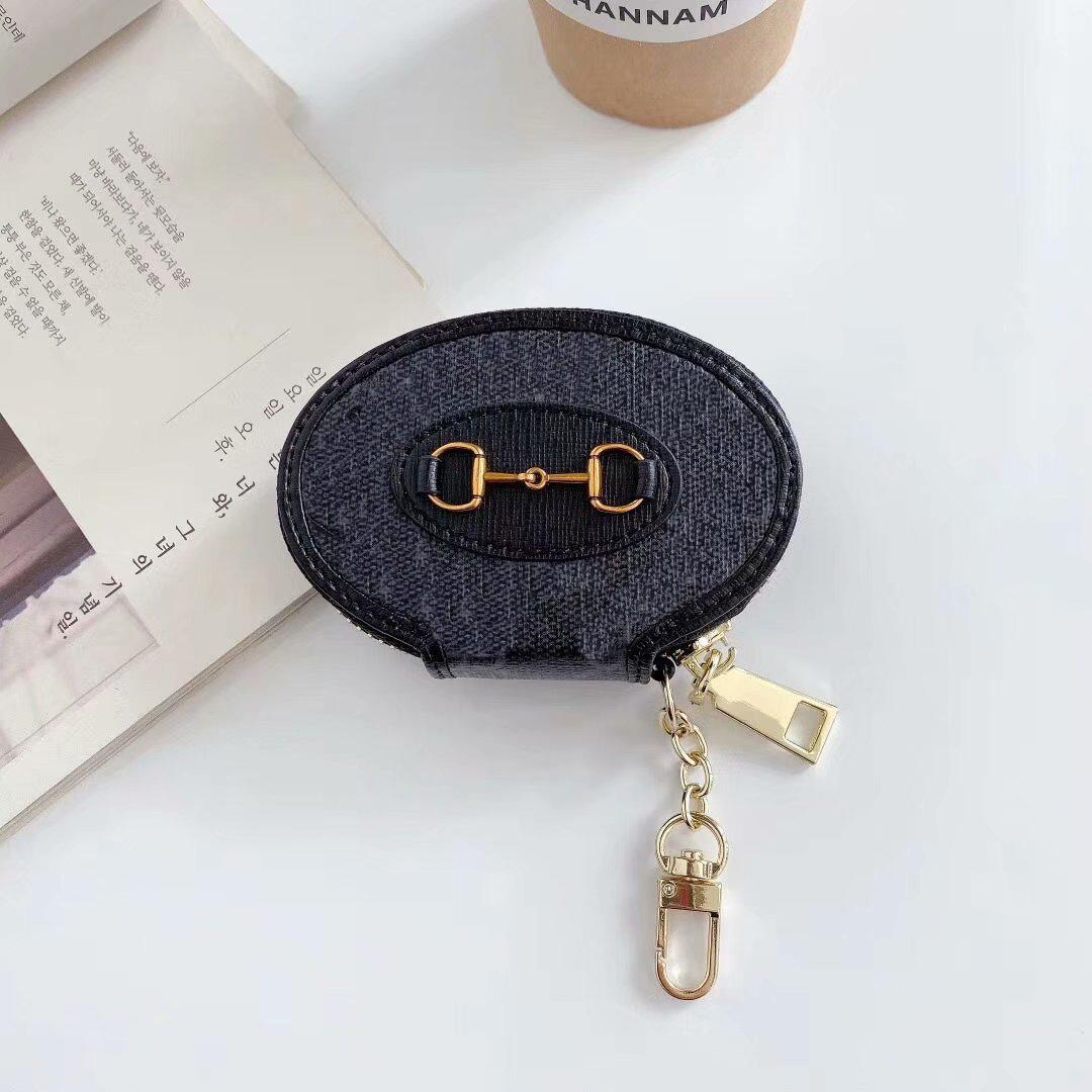 Fashion New AirPods Case Designer Retro Printing Letter Pattern with Hook for AirPods1/2 Pro3 Bluetooth Headset Case -2