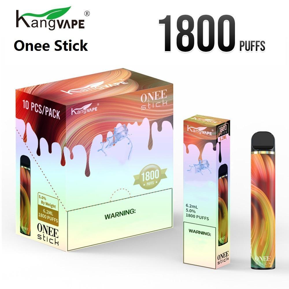 Dispositivo de pluma desechables de kangvape vs cartucho 1100mAh 1800 Vape 6.2ml One Stick Puff Bang XXL POD XXL KDEOK