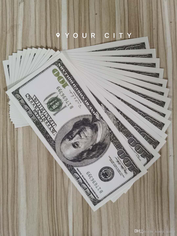 100 Dollar Party Banknote Verkäufe Bar Geschenke Kollektion Dollar US Old Fake Money Movie Requisite Geldspiele Hot Prop 27 VBBJM