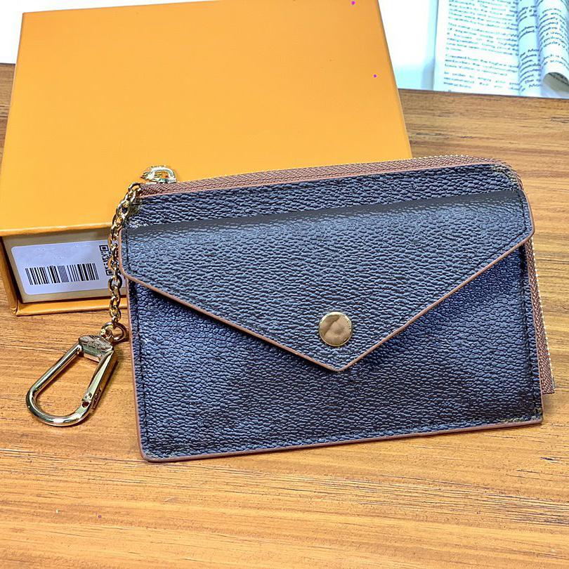 حامل بطاقة الائتمان مفتاح الحقيبة Zippy عملة محفظة أعلى جودة كلاسيك الرجال النساء للجنسين جيب Fashiong مصغرة محفظة مفيد سليم بنك مع صندوق