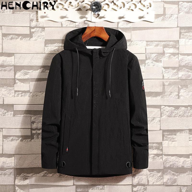 Мужские куртки Henchiry Brand Мужская одежда Куртка зимнее пальто Puls Размер Slim покрыты повседневная мужчина ветрозащитный джакке