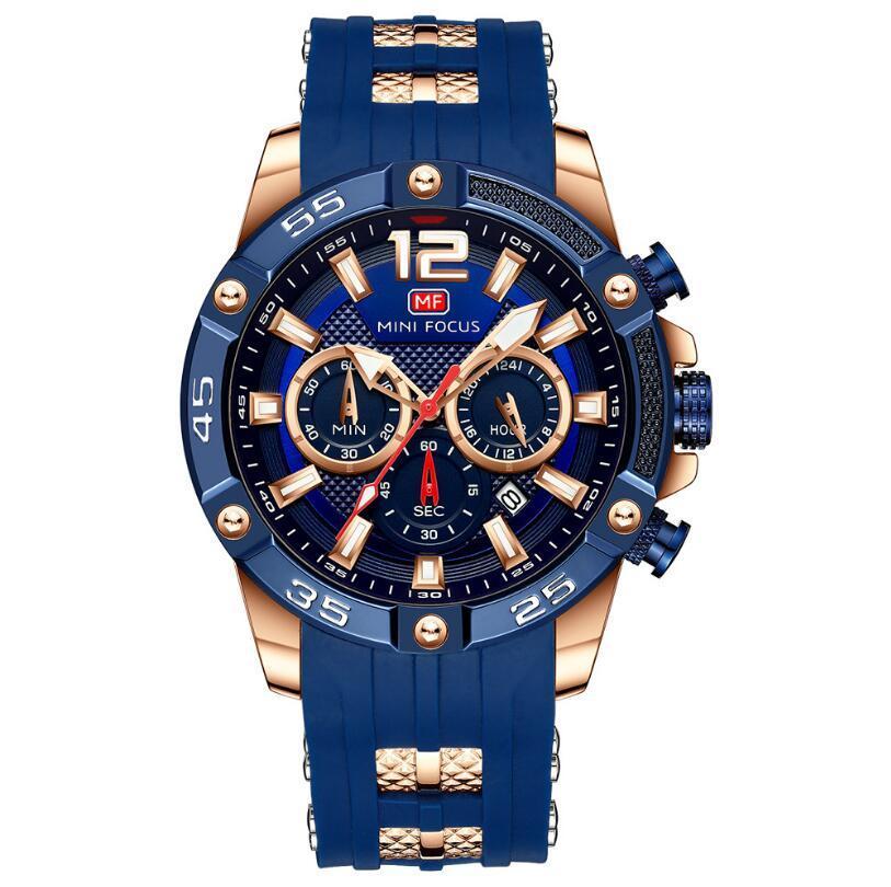 Tiempo especial Pulsera de silicona no mecánica No mecánico Hombres Reloj de pulsera de cuarzo Relojes de moda para hombre Relogio Masculino