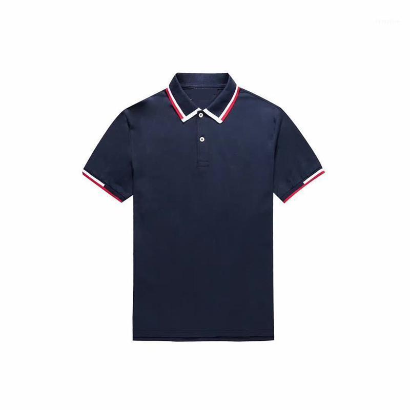 UOMINI Summer Top Fashion Homme1 Manica corta Qualità Casual Colorblock Camicie Camicie Coccodrillo per scollatura Phdbe da uomo in cotone 100%