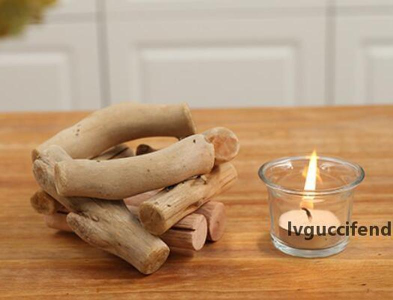 New Wooden Candlestick Candle Holder Table Desk Nice Wedding Decoration Props Decoration Furniture Romantic Candlelight Dinner