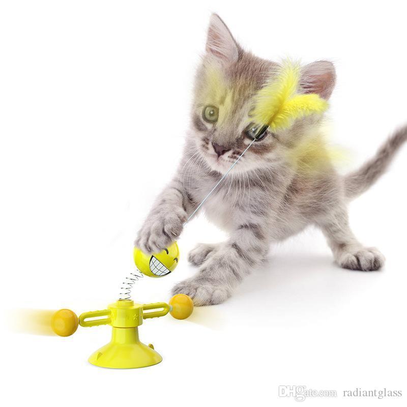 القط لعب التدريب في الهواء الطلق لعبة التفاعلية القط خدش اللعب القط الربيع لعبة الحيوانات الأليفة اللوازم 3 ألوان