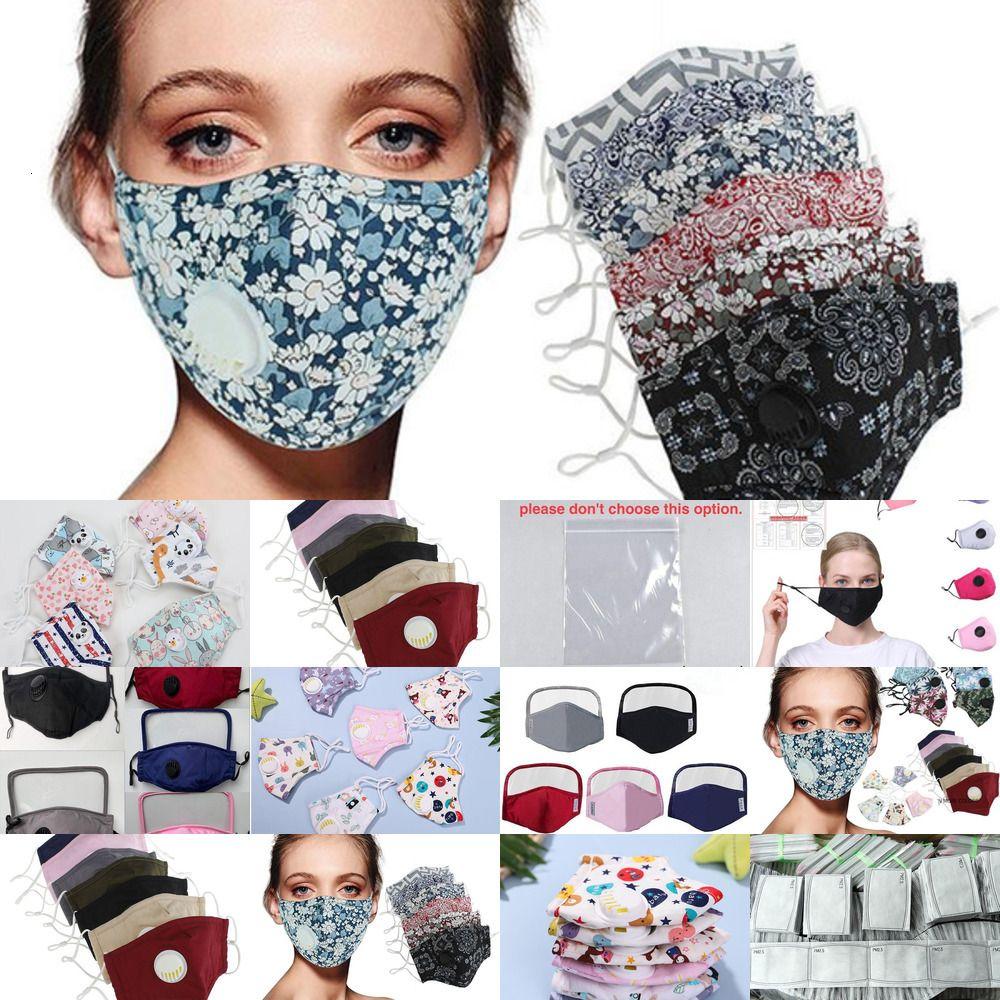 Лицевые клапаны Ткань с хлопковой равниной велосипедные маски для лица Маска для лица напечатаны пыленепроницаемыми и смотростойкими