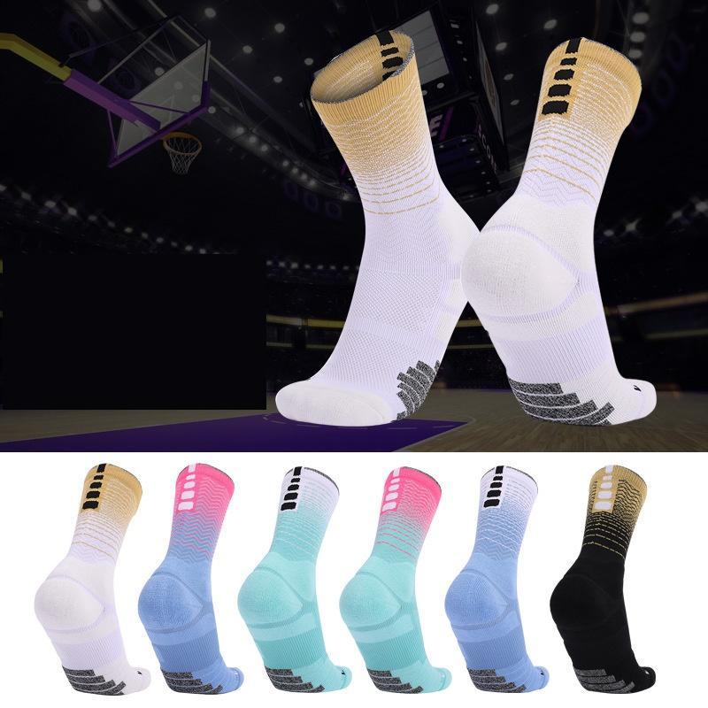 Nuovi calzini d'élite Uomini calzini da basket per uomo Asciugamano professionale Bottom Traspirante Trasporto traspirante in esecuzione calcio sportivo calzini da calcio Donne di alta qualità