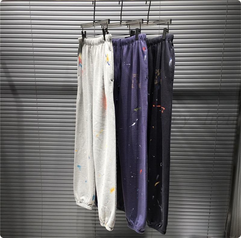 Sıcak Ünlü Tasarımcı Vintage Sweatpants Kadın Erkek 1 Yüksek Kalite Pantolon İpli Joggers Sweatpants Ücretsiz Kargo