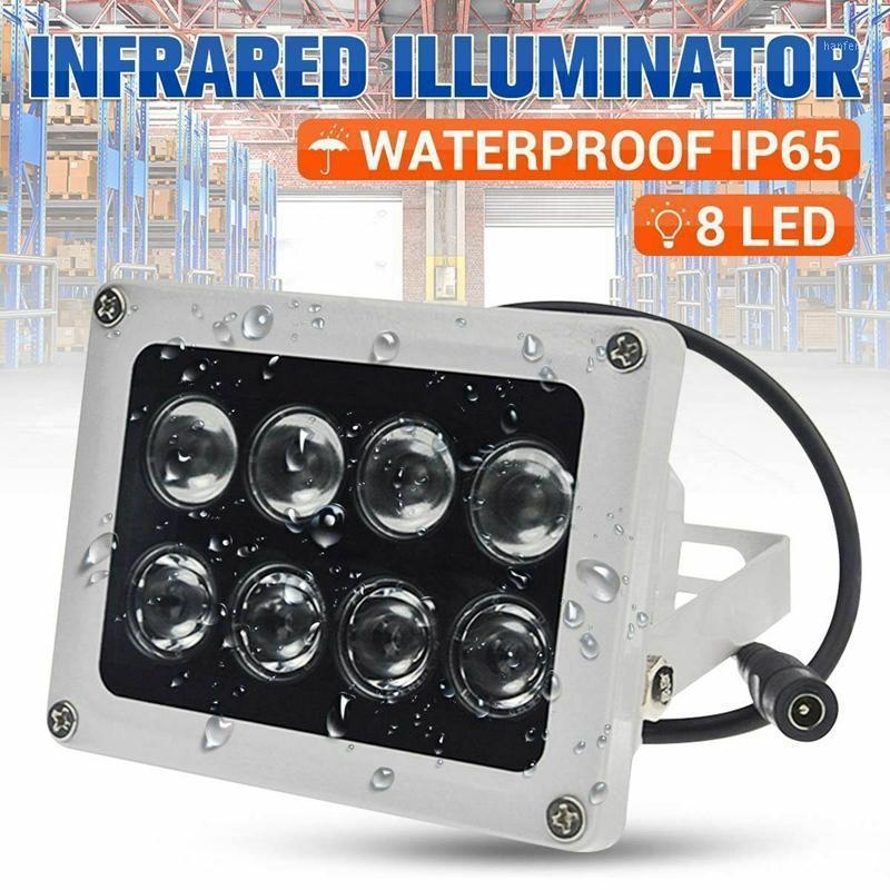 Lámpara de visión nocturna infrarroja de infrarrojos infrarrojos de iluminador de 8 LEDs para cámaras de seguridad CCTV