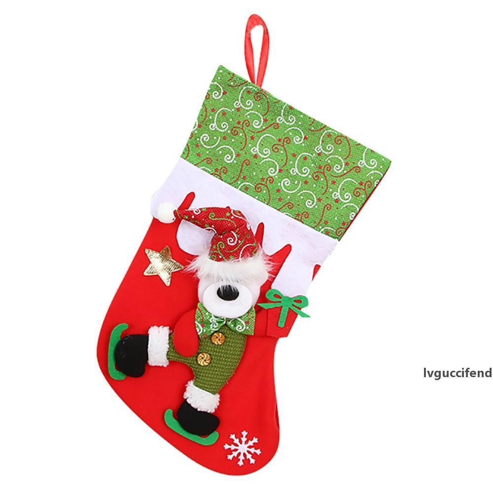 Рождественские подарки конфета шарики Санта-Клаус снеговик носки украшение Для дома новогодних подарков