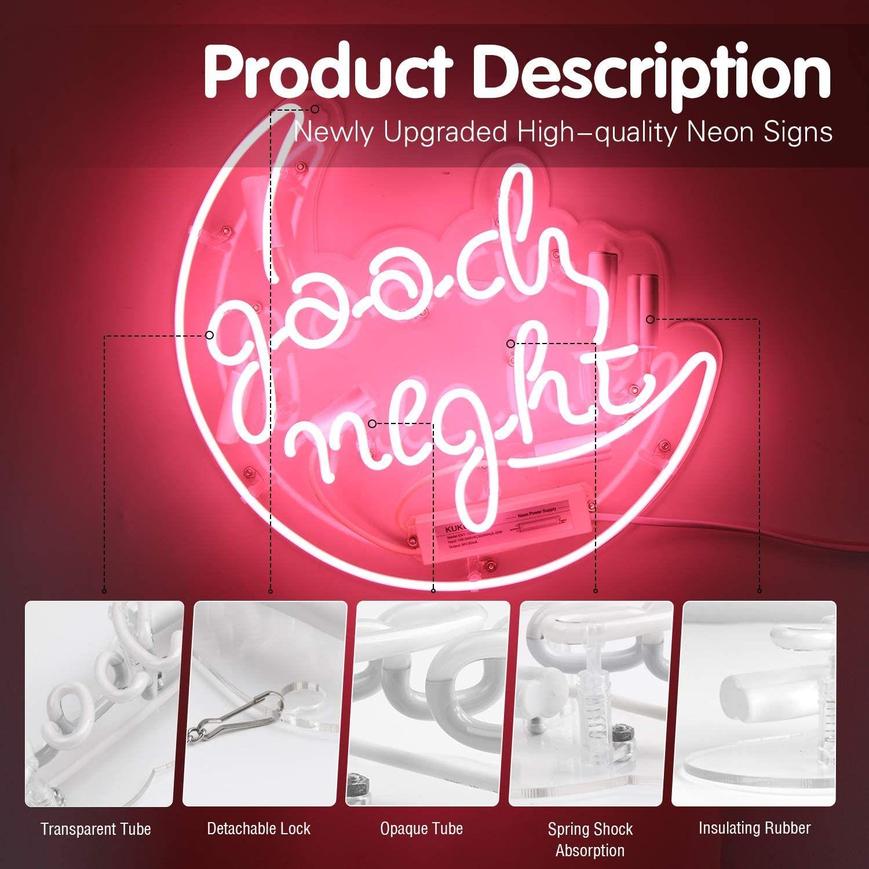 네온 기호 침실에 대한 좋은 밤 핑크 매달려 벽 화장실 주택 홈 놀라운 놀라운 탁월한 14.5x12.5 인치 무료 배송