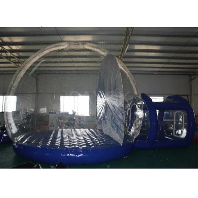 Transparentes aufblasbares Zelt Klar Bubble House Single Tunnel Aufblasbare Bubble Zelt Z1123
