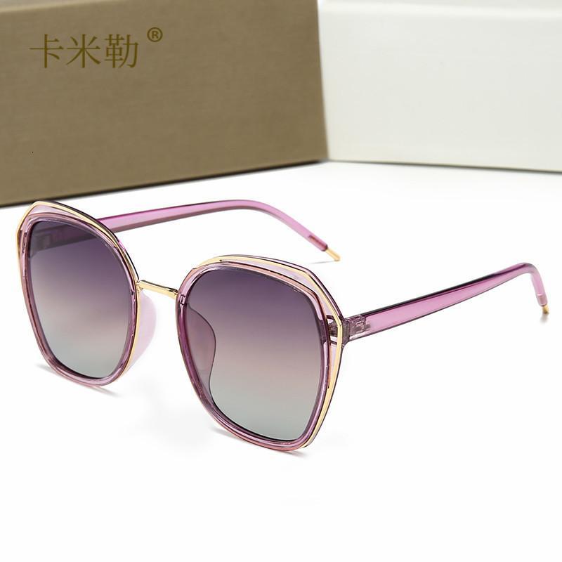 Новые поляризационные солнцезащитные очки женские солнцезащитные очки мода универсальные путешествия 22022 KML-дизайнер