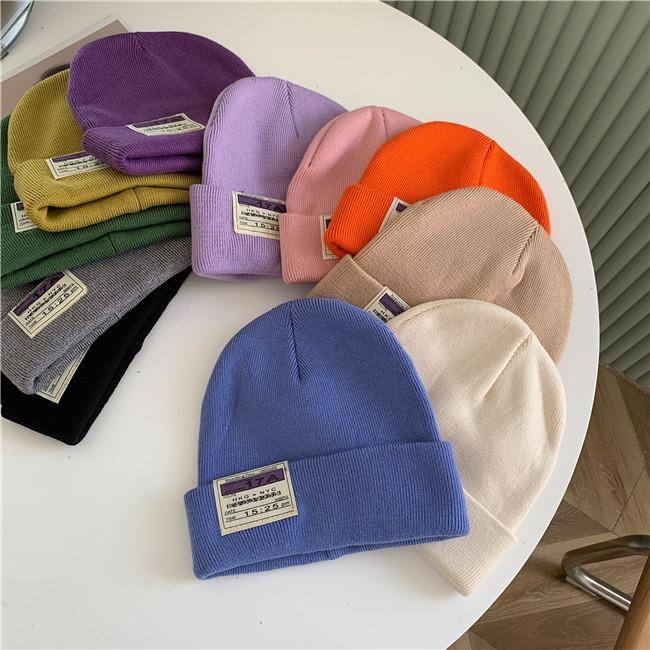 2020 New Winter Hats For Women Beanie Cap Unisex Cuffed Plain Skull Beanie Skull Caps Knit Hat
