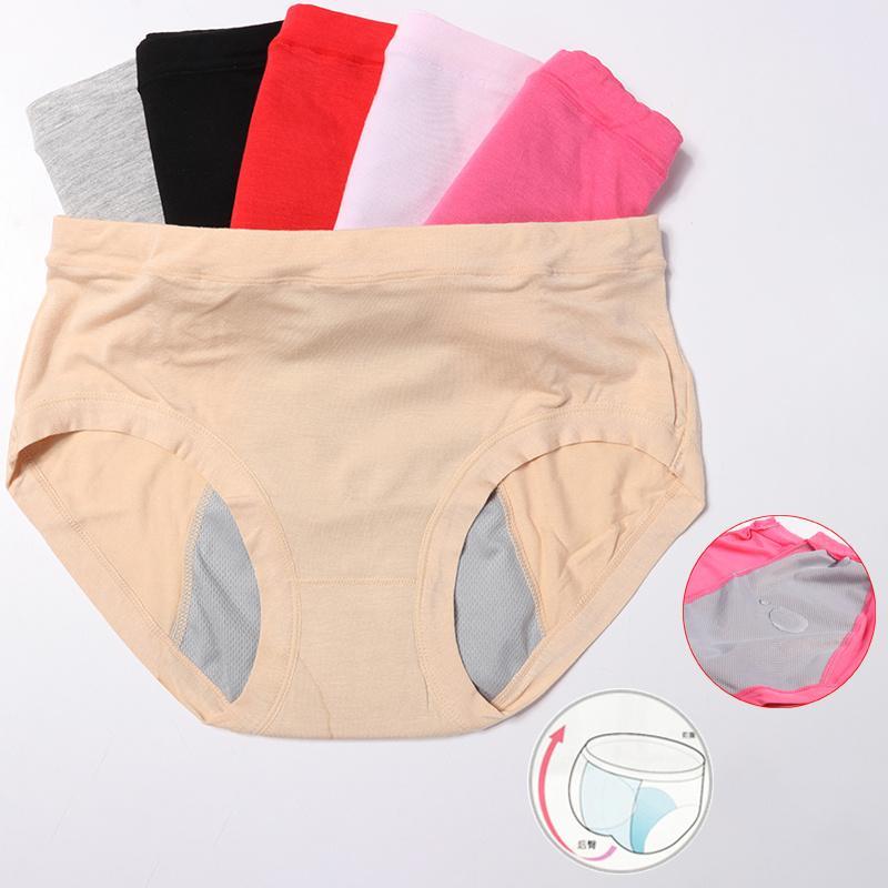 Örgü nefes sızdırmaz adet külot fizyolojik pantolon kadın iç çamaşırı dönemi pamuk su geçirmez külot sızdırmaz pantolon