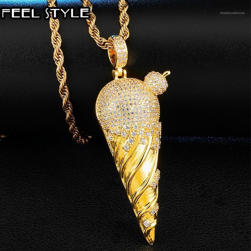 Voller Euro ausbling Zirkon Creme CZ Cubic Zirkon Halsketten Anhänger für Frauen Männer Hip Hop Schmuck Geschenke1