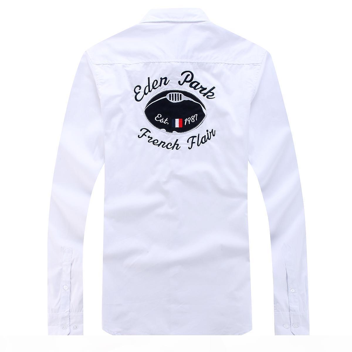 Homme chemise new eden park camisa de manga completa para homens de alta qualidade design agradável negócio estilo casual algodão tamanho m l xx xxl livre shippin homens