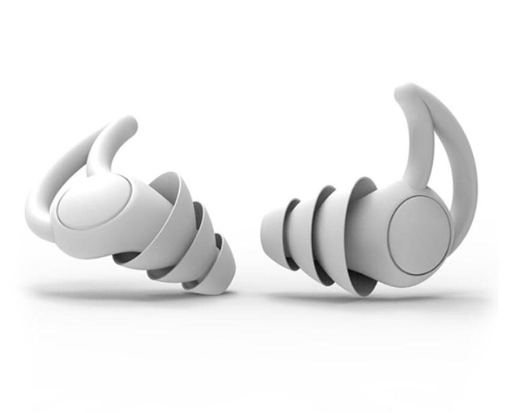سدادات واقية الأذن المقابس لينة سيليكون ماء مكافحة الضوضاء سماعات سماعات حامي للسفر سدادات النوم والشخم