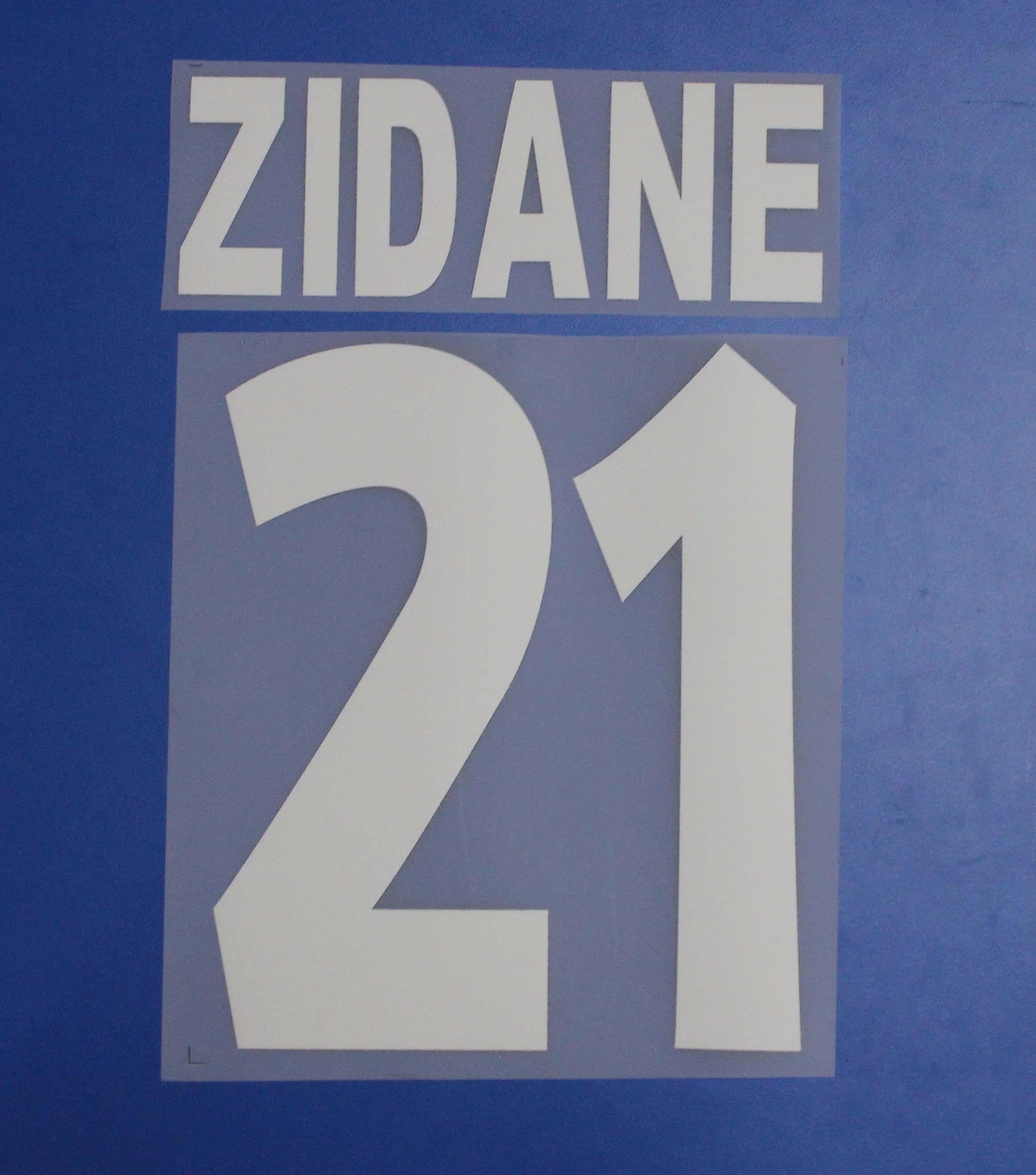 Zidane Retro Futbol Adet A-Z Sayı 0-9 Printng Futbol Yazı Futbol Yama