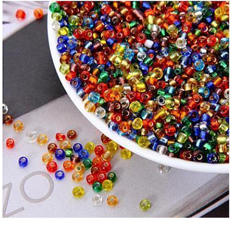 Colorido Checo DIY Beads de vidro artesanal, pulseiras e acessórios de jóias infantis frisadas M * 500 pcs / 2mm * 1000pcs Color SQCCYW