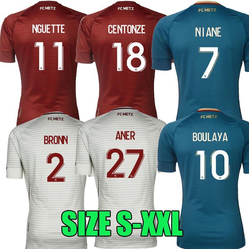 Mailleot De Foot 20 21 FC Metz Soccer Jerseys 2020 2021 Boulaya Diallo Centerze Bronn Vagner Nian Fofana Vagner Home Third