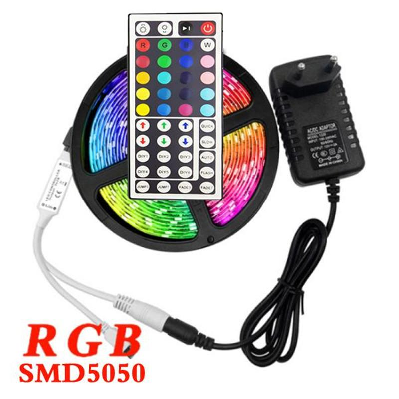 5M USB Light Strip RGB Neon Light 5050 SMD 12V RGB LED Tira RGBW TV TV Light Lighting 5m Bande LED Lâmpada Fita
