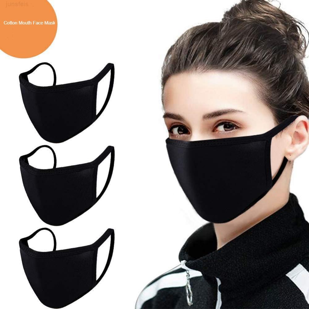 Cara de algodón anti-polvo cara pm 2.5 máscara unisex hombre mujer negro blanco moda ciclismo