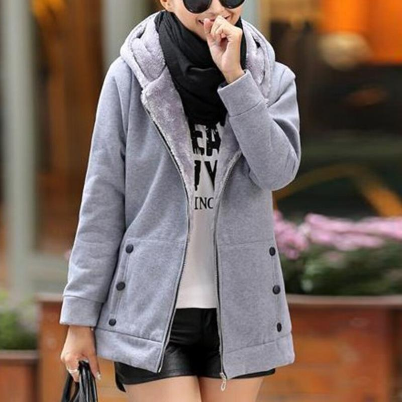Primavera autunno donne giacche invernali e cappotto plus size 7 colori giacche casual cappotto caldo in pile con cappuccio con cappuccio con cappuccio streetwear