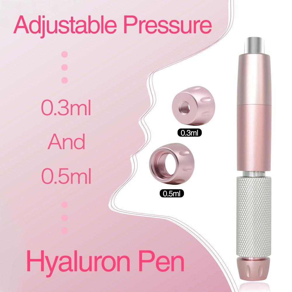 Высокая плотность Hyaluron Pen с 3 Уровень Отрегулируйте давление Две головы Hyaluron Gun для подъема для губ против морщин с Ampoule Adapter Beauty Tool