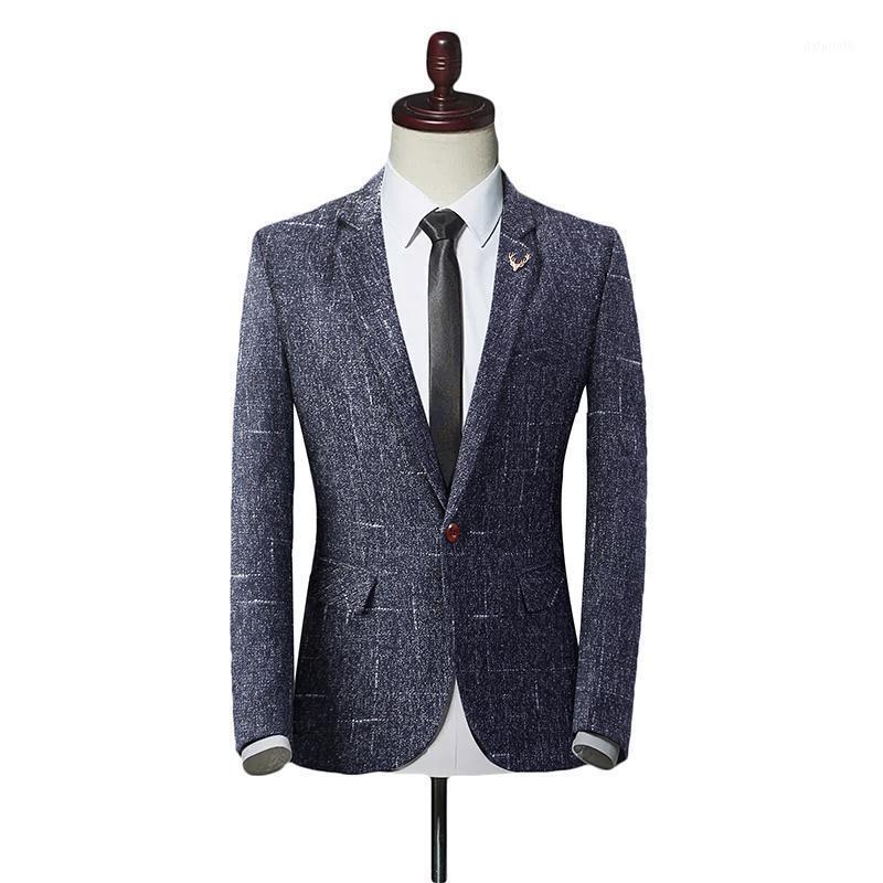 Traje de ajuste delgado para hombre Un botón de traje de un solo botón Casual Business Solapa Blazers Chaqueta Traje Masculino Homme Terno Masculin TUXEDO Blazers1