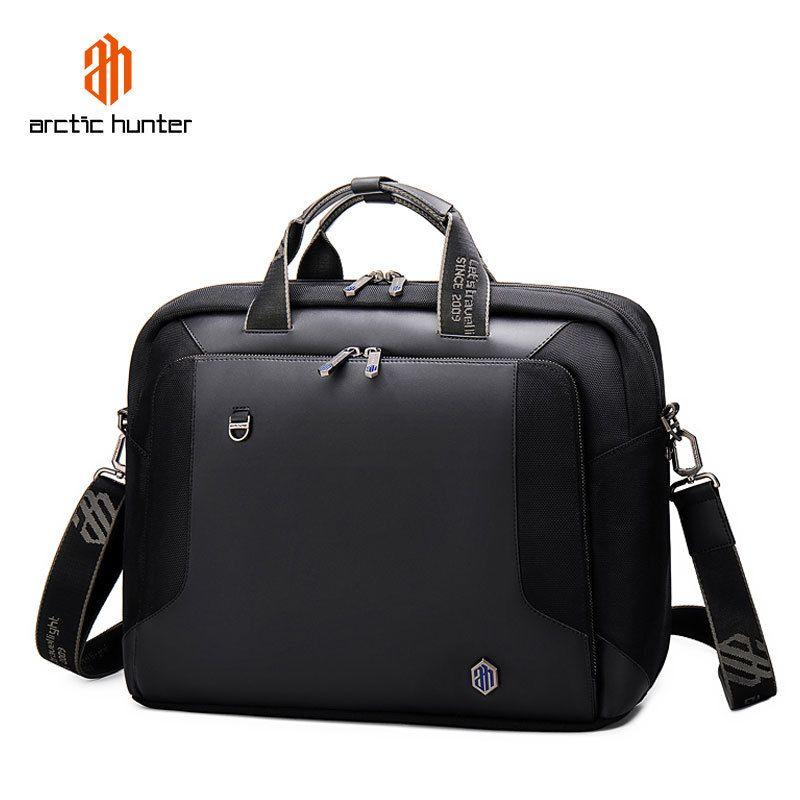 Men Business Briefcase Large Capacity 15.6 Inch Laptop Bags for Man Office Shoulder Bag Male Handbag Waterproof Computer Pocket Q0112