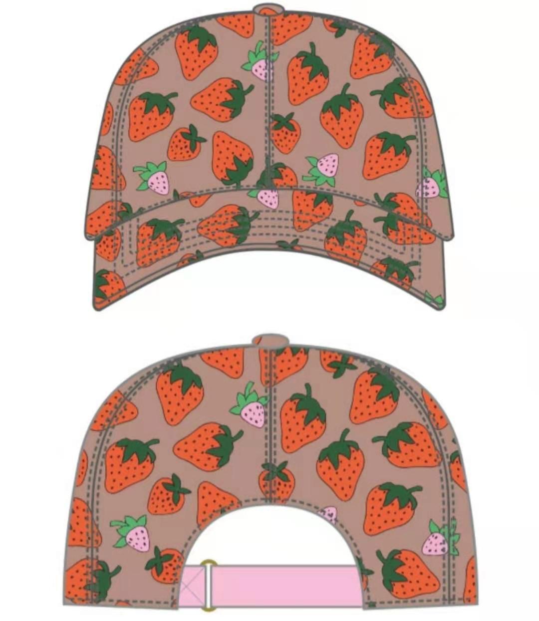 عالية الجودة الفراولة البيسبول قبعات الرجل القطن الصبار الكلاسيكية إلكتروني الكرة قبعات الصيف المرأة الشمس القبعات في الهواء الطلق قابل للتعديل snapback قبعة فتاة لطيف قناع