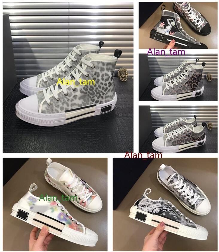 Yeni Varış B23 Rahat Ayakkabılar 19ss Tuval Çiçekler Sneakers Yüksek Düşük Üst Eğik Deri Stilist Ayakkabı Kadın Ve Erkekler Teknik Moda Ayakkabı