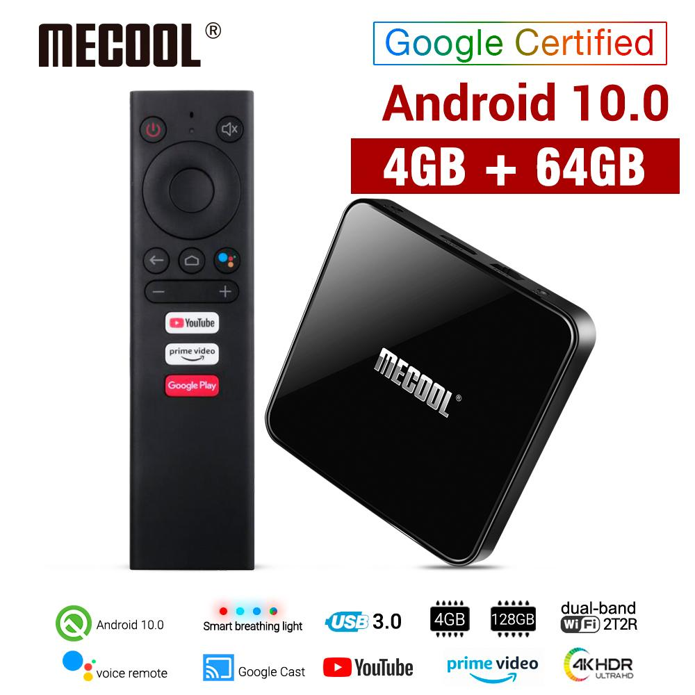 MECOOL KM3 ATV Androidtv Google Certified Android 10 TV Box 4GB 64GB Amlogic S905X2 4K 2.4G 5G Dual Wifi BT4.0 Set Top Box