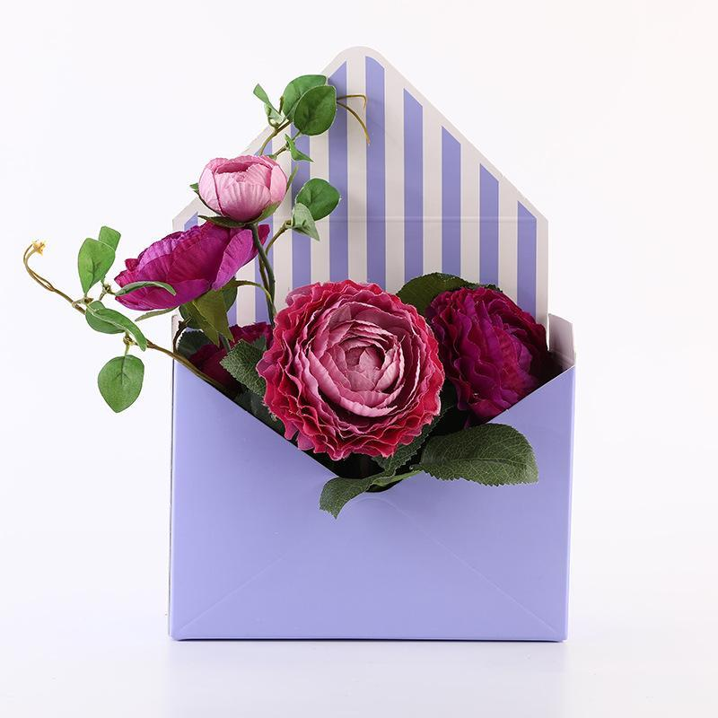 5pcs busta fold box flower confezionamento di carta sacchetto di carta regalo scatola di immagazzinaggio bouquet flower imballaggio drages per decorazioni per feste di nozze