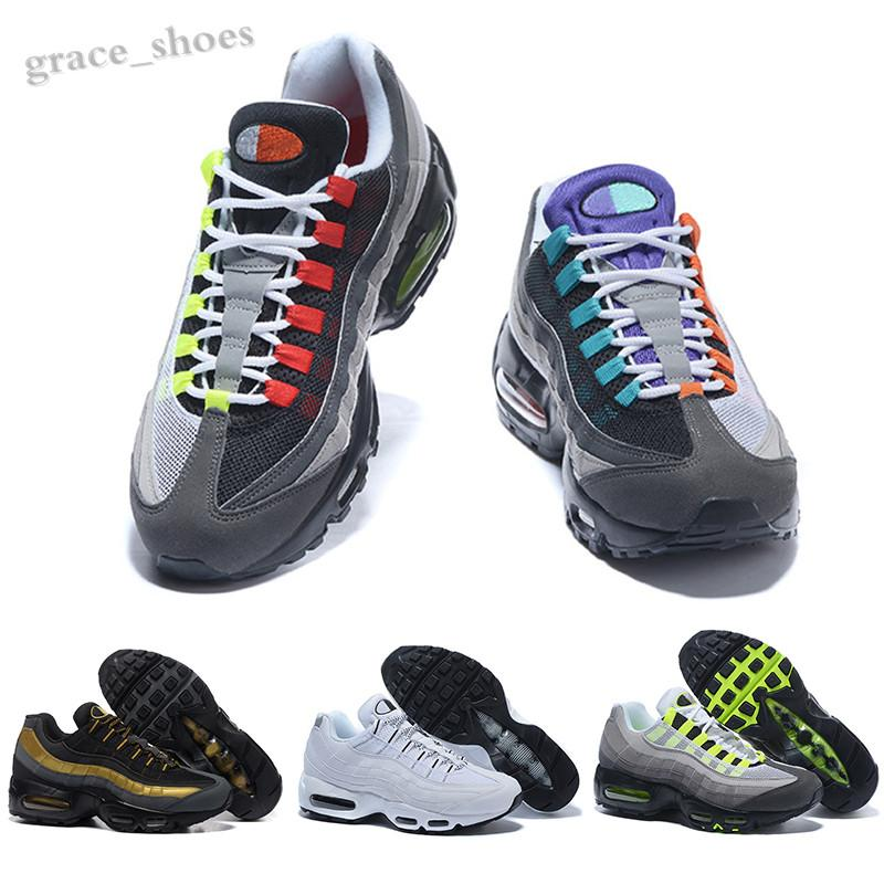 NIKE AIR MAX 95 New More Color Drop Shipping men women Famous Cushion 95 Mens Sports Athletic Shoes Sports Shoe Size 36-45 PP06