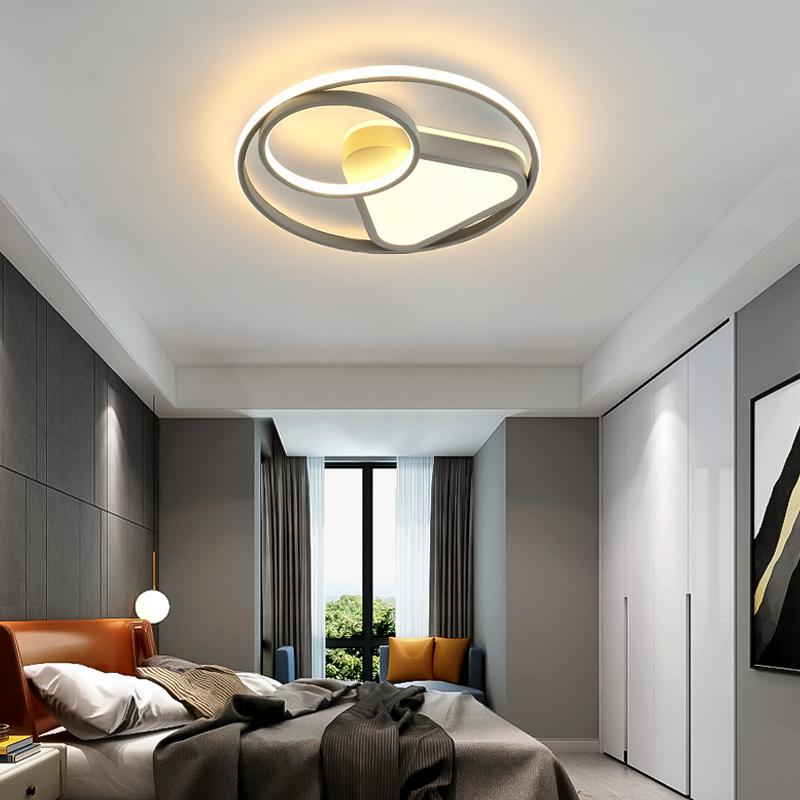 Современные светодиодные потолочные фонари гостиная спальня Luster de Plafond Moderne светильник Plafonnier белый серый золотой светодиодный потолочный светильник