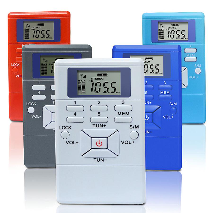 Hanrongda Taşınabilir Mini FM Radyo Alıcısı LED Ekran Dijital Sinyal İşleme Kulaklık HRD-102 ile Frekans Modülasyonu